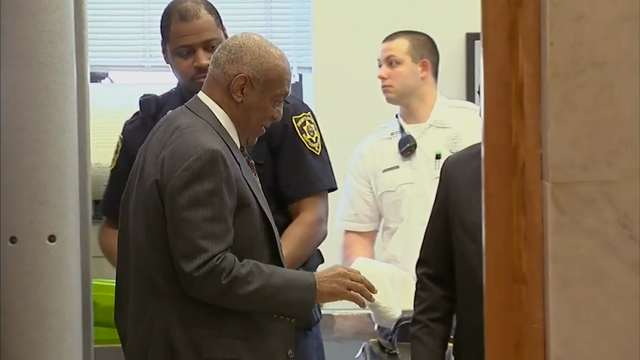 Bill Cosby arrives at the Montgomery County Courthouse