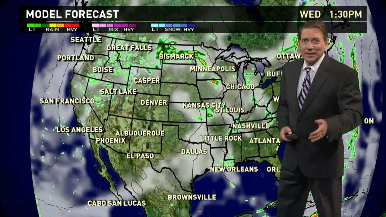 Wednesday's forecast: Rainy day for most of U.S.