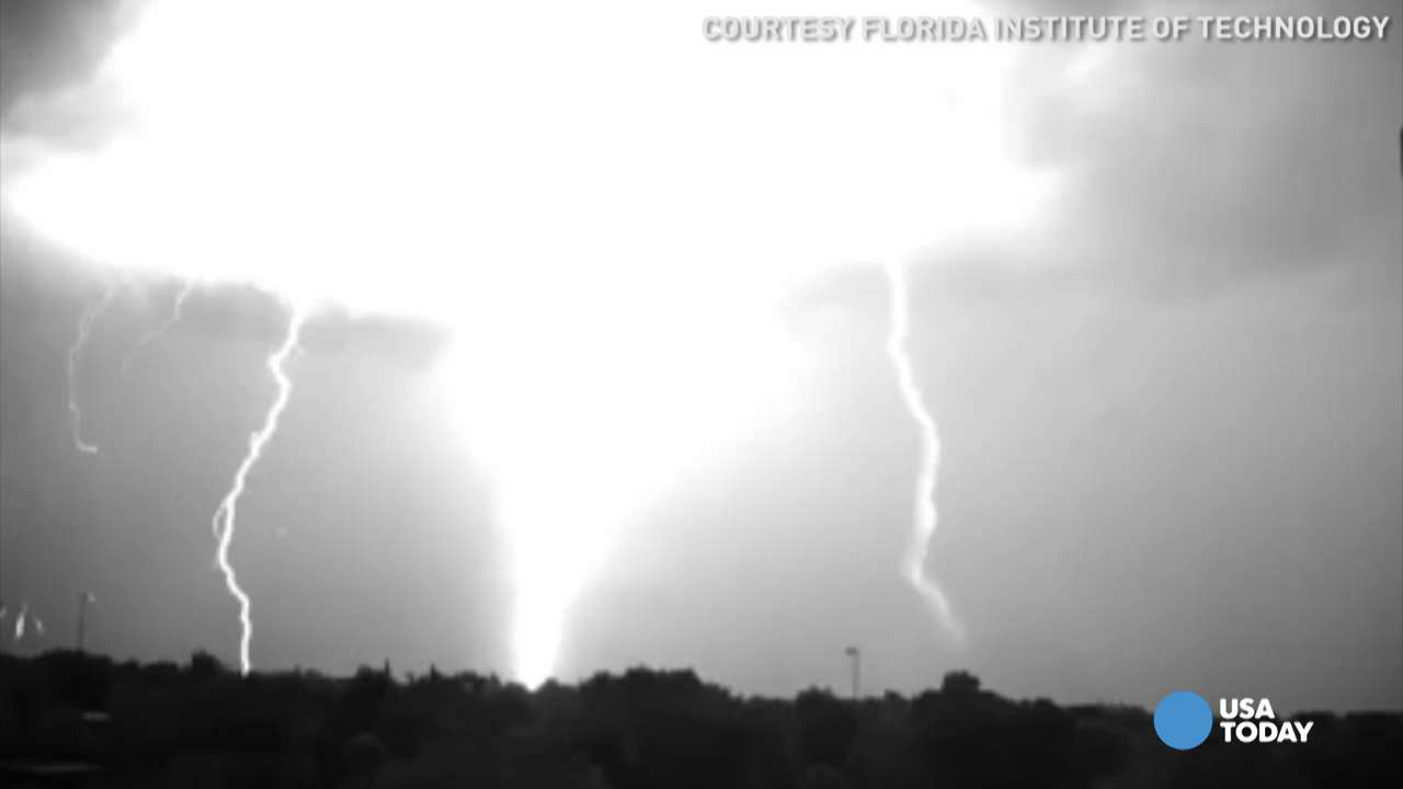 Watch the birth of a lightning strike in slow motion
