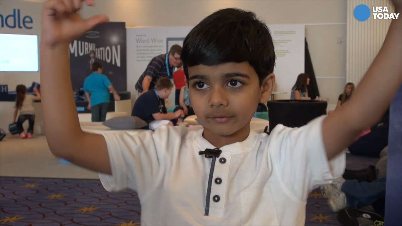 Six-year old Akash Vukoti of San Antonio is the youngest contestant in the 2016 Scripps National Spelling Bee.