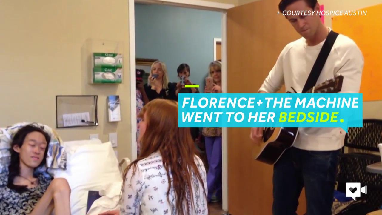 All Karinya wanted to do was see Florence + the Machine in concert. A week before she was supposed to go, her doctors said she had to stay in hospice care. But the next day, she got a bedside surprise that strengthened her belief in miracles.