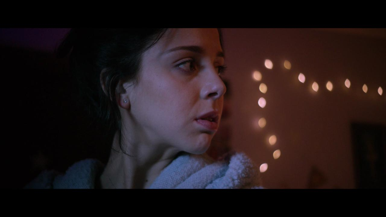 """Makenzie Vega stars as a teenager worried someone's in her house in an exclusive clip from the horror film """"Fender Bender."""""""