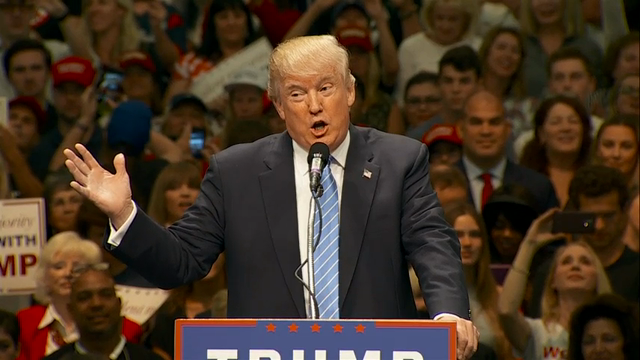 Trump bashes 'crazy Bernie' and 'crooked Hillary'