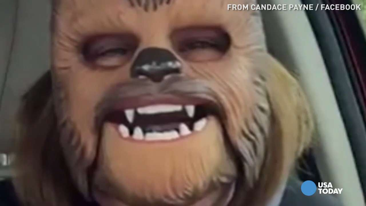 Candace Payne had no idea what she was in for when she streamed a live video of herself wearing a Chewbacca mask on Facebook. A three-day, three-city tour later, she's on a mission to spread her infectious laugh to as many people as she can.