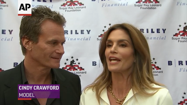 At a charity boxing event raising money for programs fighting diabetes, retired boxer Sugar Ray Leonard talks about his personal relationship with the disease, and Cindy Crawford reveals she occasionally receives parenting advice from Leonard's wife