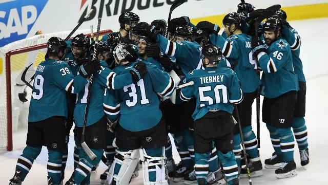 The San Jose Sharks are headed to their first Stanley Cup Final after defeating the St. Louis Blues 5-2 in Game 6.