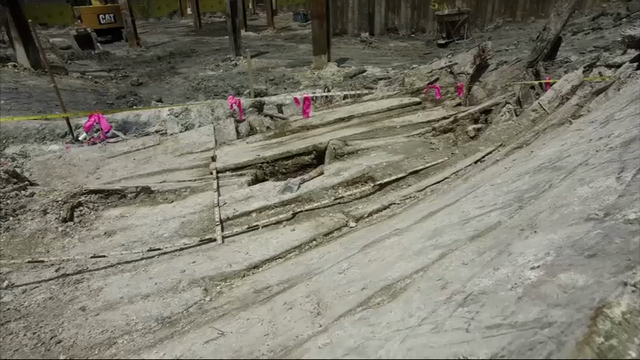 Old shipwreck found at Boston construction site