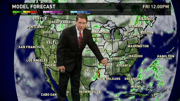 Friday's forecast: Showers continue across U.S.