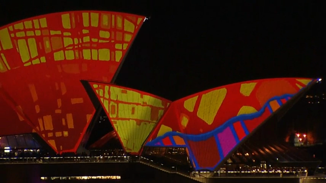 Raw: 'Vivid' Down Under Light Show