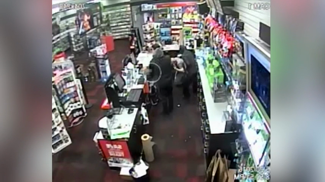 7-year-old fights back against two robbers
