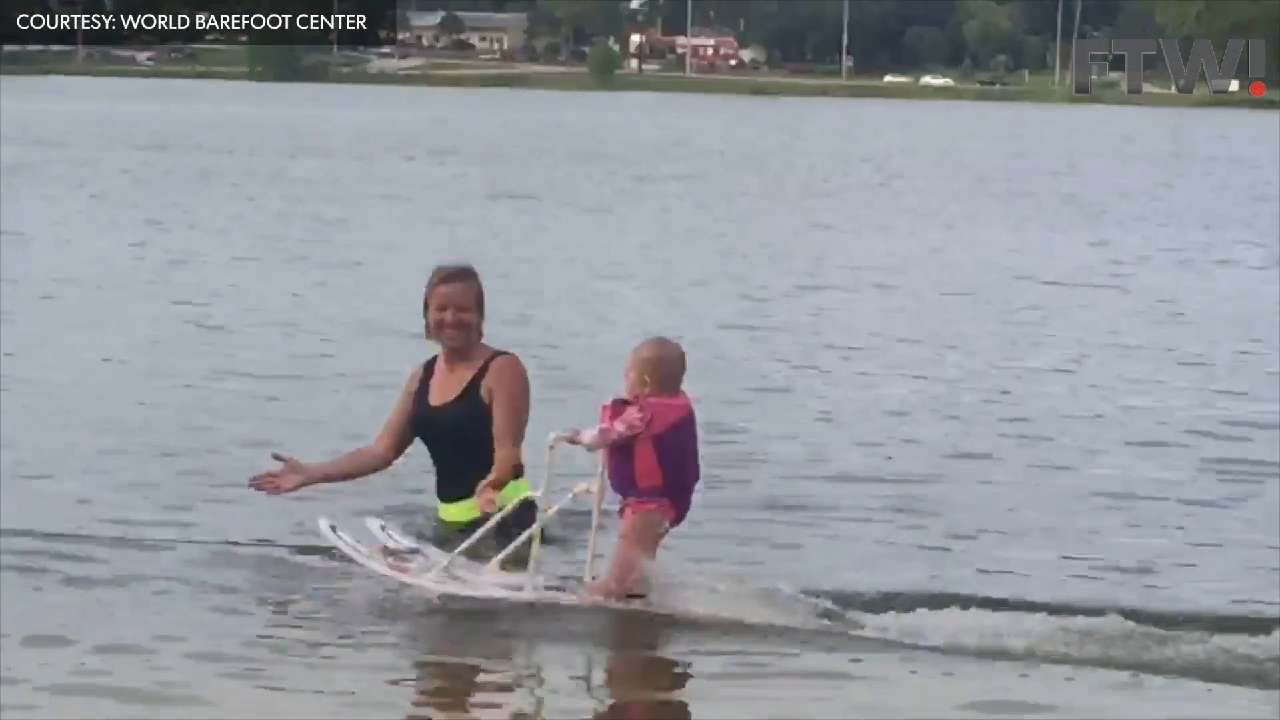 6-month-old becomes youngest water skier ever