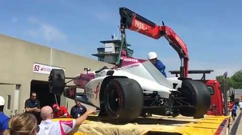 Pit Pass Live Episode 9: Pippa Mann's Carb Day crash