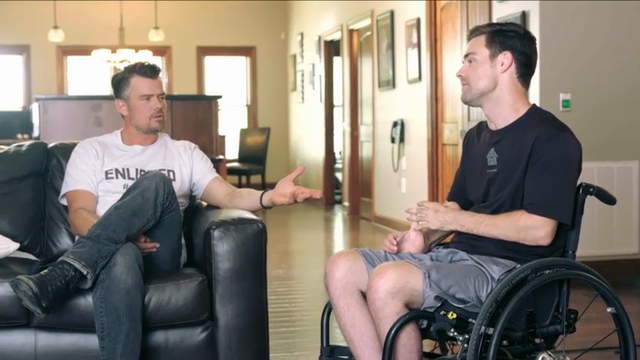 Josh Duhamel is lending his star power to help disabled veterans. The \u0022Transformers\u0022 star is supporting GMC and Building for America's Bravest #EnlistMe campaign, which provides smart homes for injured veterans. (May 27)