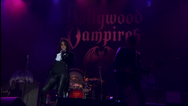 Johnny Depp takes to the stage with his band Hollywood Vampires to perform at Rock in Rio, Lisbon, hours after his estranged wife Amber Heard was granted a restraining order against him. (May 28)