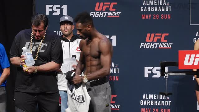 Aljamain Sterling and Bryan Caraway weren't so sweet to each other at the UFC Fight Night 88 weigh-ins