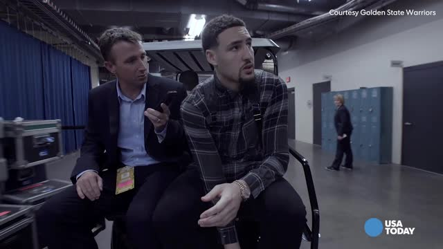 Golden State Warriors guard Klay Thompson talks about where the Game 6 win against the Oklahoma City Thunder in the Western Conference finals ranks in his list of all-time games with USA TODAY's Sam Amick.