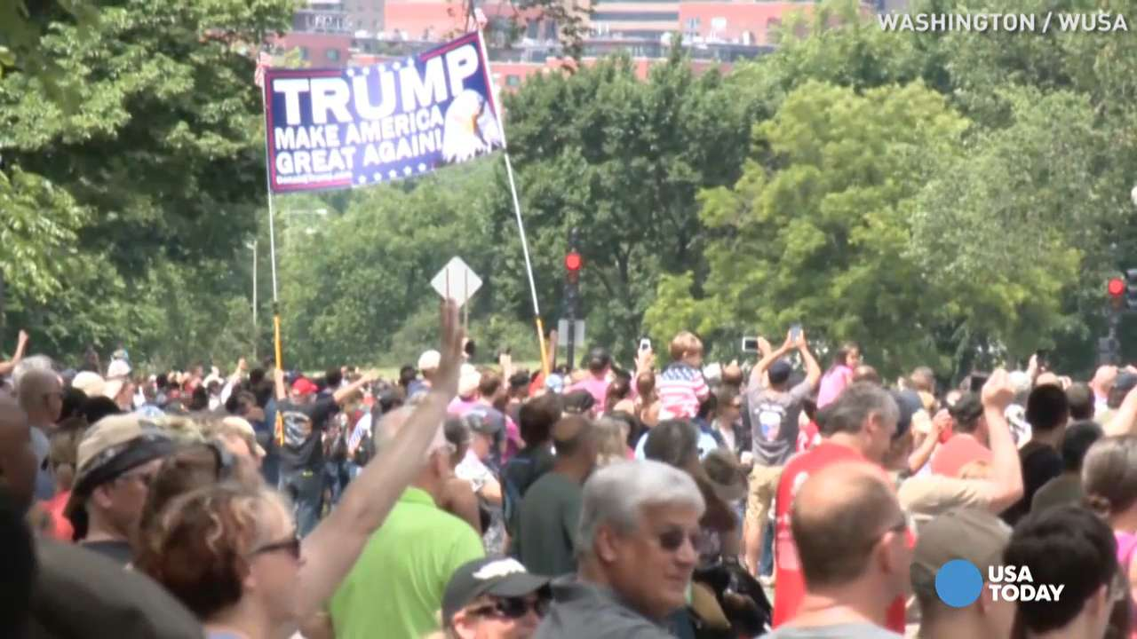 Trump gets mixed reviews from Rolling Thunder vets
