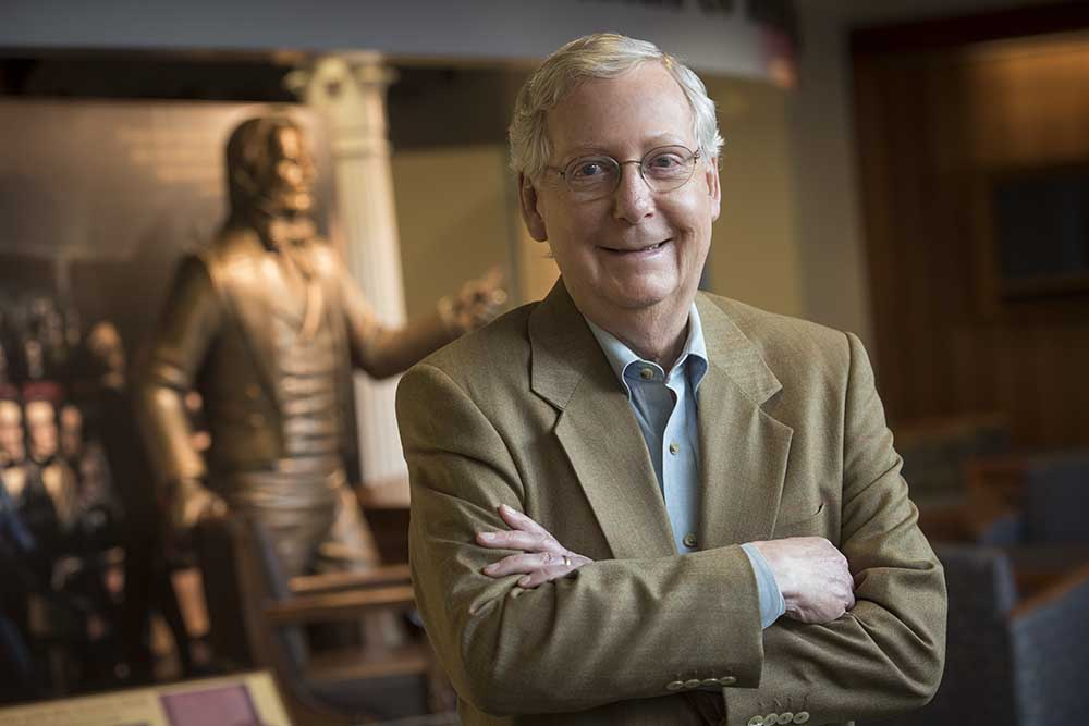Senate Majority Leader Mitch McConnell assesses the impact having Donald Trump at the top of the ticket will have on Republican Senate candidates in November and what dealing with a President Trump would be like.