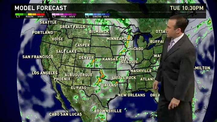 Tuesday's forecast: Stormy weather for the Plains