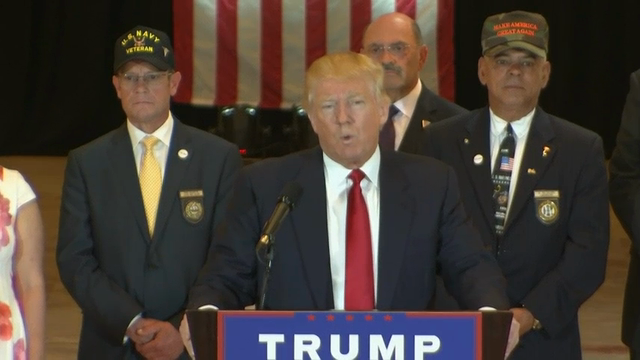 Presumptive Republican presidential nominee Donald Trump announced he had raised $5.6 million in donations for various veterans charities, following sustained pressure from media outlets trying to account for the promised funds. (May 31)