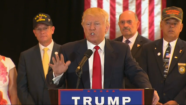 Trump Has Testy News Conference On Vet Donations