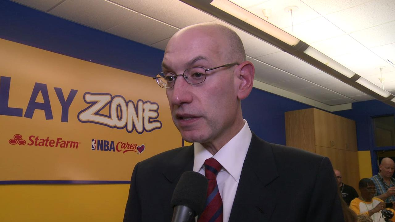 Adam Silver talks about Muhammad Ali and how he used to see the boxing great's bouts.