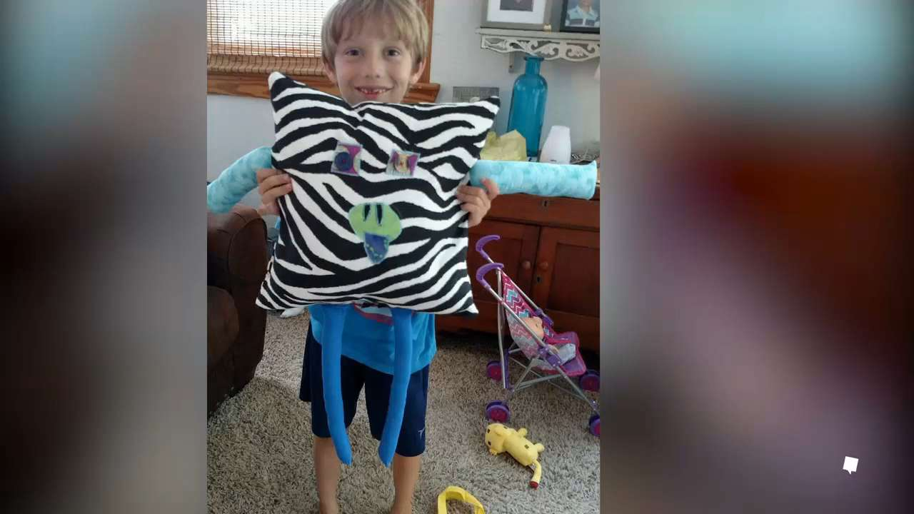 Boy sends hugs to people who need it most