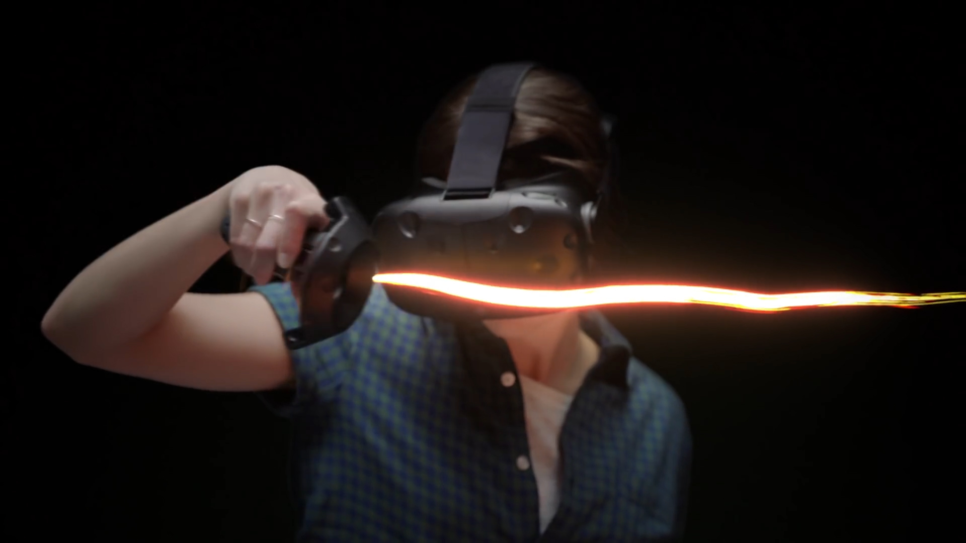 Meet the Google Tilt Brush, an app paired with the HTC Vive virtual reality device that allows you to paint in 3D with textured fabrics.