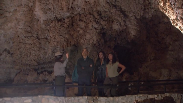 Raw: Obamas Tour New Mexico Underground Caves