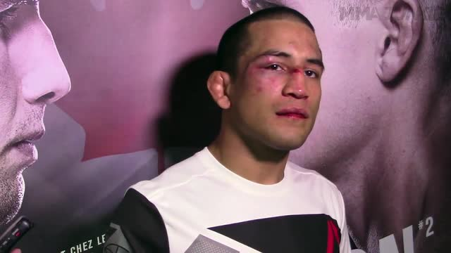 Joe Soto post-fight media scrum at UFC Fight Night 89