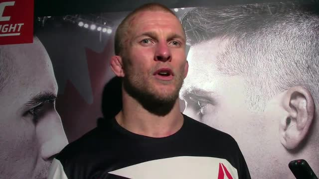 Misha Cirkunov post-fight media scrum at UFC Fight Night 89