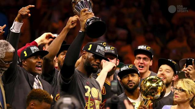 The Cleveland Cavaliers made history becoming the first team in NBA history to win a championship after trailing 3-1 in the series.