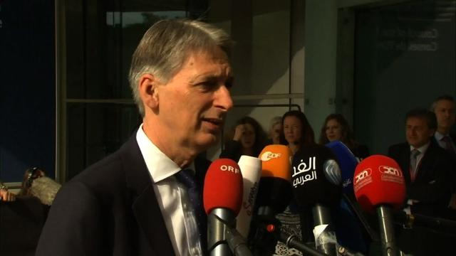 A British vote to leave the European Union would be irreversible and the country could rejoin the bloc only on what would be unacceptable terms, Foreign Secretary Philip Hammond warns. Video provided by AFP
