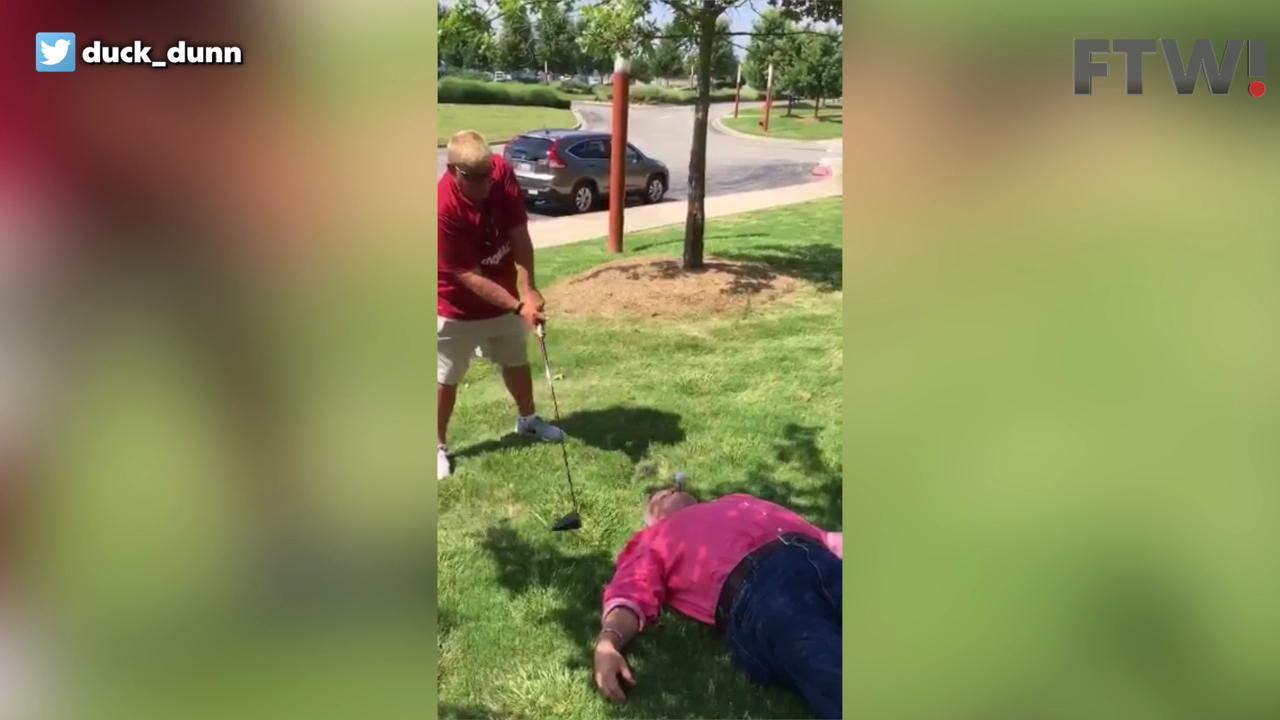 John Daly tees off a man's mouth