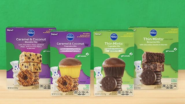 Pillsbury has introduced baking mixes inspired by Girl Scout Cookie flavors. Video provided by Newsy