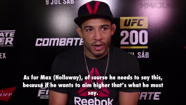 Jose Aldo says fight with Edgar is to determine champion, not challenger