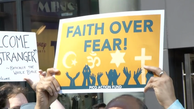 Times Square Interfaith Protest Against Trump