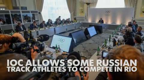 IOC allows some Russian track athletes to compete in Rio