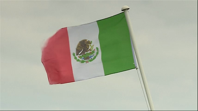 Mexican flag raised near Trump's Scottish golf course