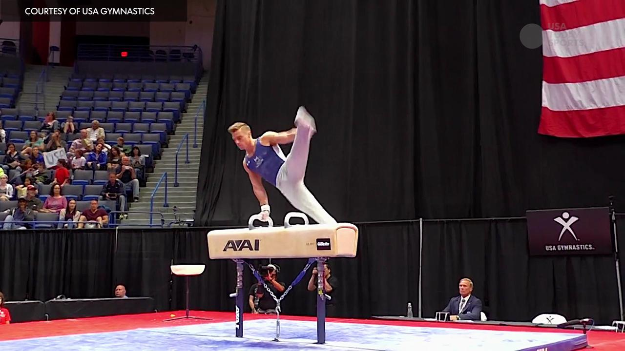 USA gymnast Sam Mikulak's signature move