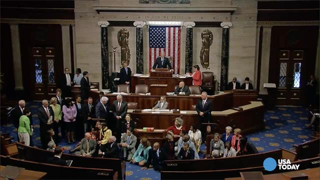House Democrats stage 11-hour sit-in