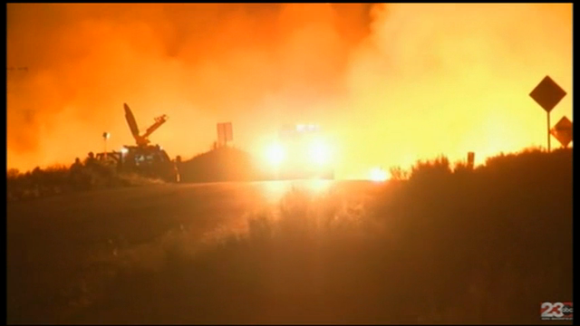 A raging wildfire has destroyed at least 60 homes in central California. (June 24)