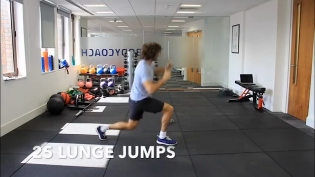 Joe Wicks - AKA 'The Body Coach' - gives exercise and diet tips. (June 24)