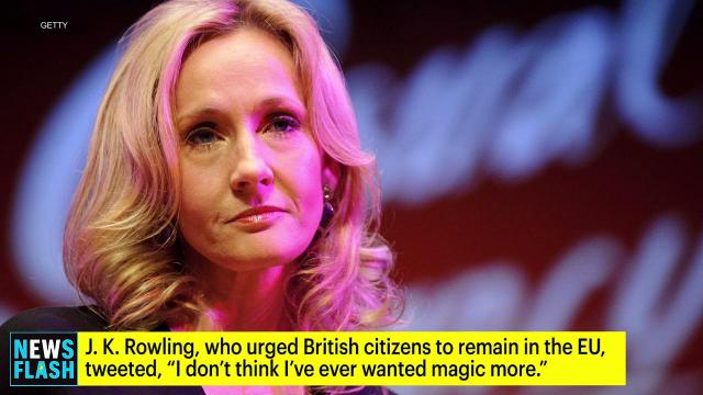 J.K. Rowling, celebrities react to Brexit results