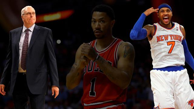 "Knicks president Phil Jackson says the team's trade for Bulls point guard Derrick Rose will be ""reinvigorating"" for star Carmelo Anthony, according to ESPN's Ian Begley."