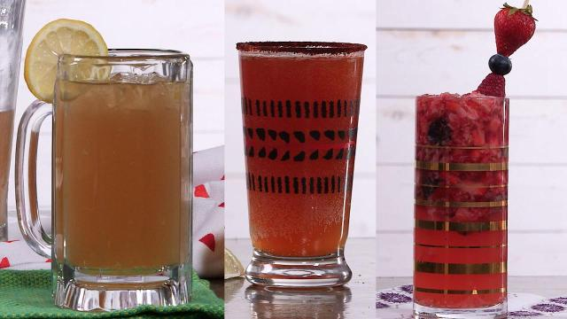 These three refreshing beer cocktails are natural crowd-pleasers. Treat guests to an End Zone (made with Applejack, lemon, and light beer), a Beerded Mary (a Bloody Mary with lagers), or the fruity Ginger Berry (berries, tequila, and ginger beer).