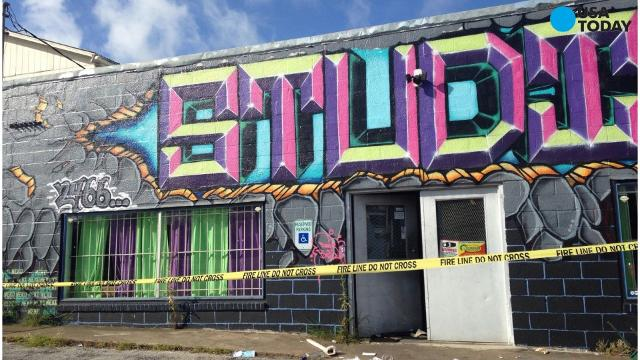 The owner of a Texas dance studio says that, ahead of a shooting that left two people dead and several others injured, a group having a party on the property wasn't authorized to be there.