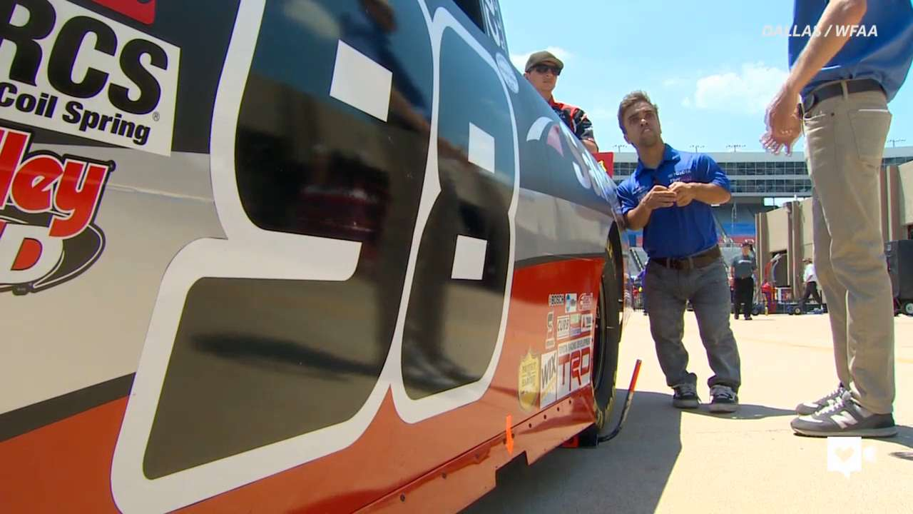 NASCAR driver breaking barriers to win