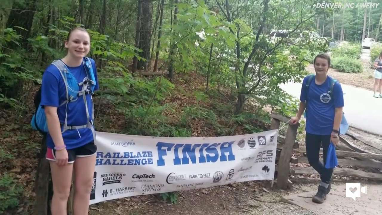 Teen celebrates beating cancer with 28-mile hike