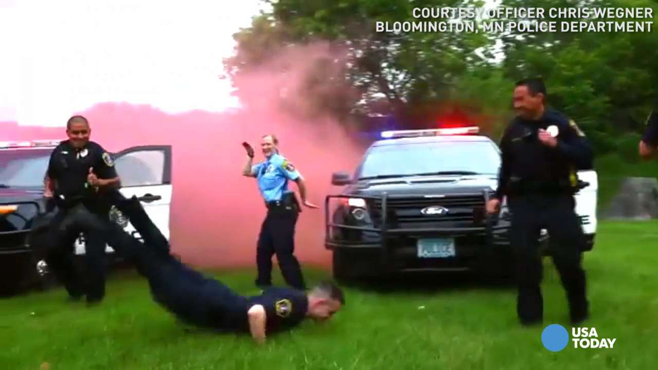 See how a Minnesota police department pulled out all the stops for their version of the Running Man Challenge.